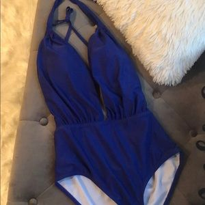 Sexy blue swimsuit